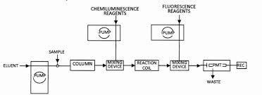 Hplc Chart Analytical Chemiluminescence Chemiluminescence Detection In