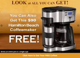 The company offers tons of ways to save on products like coffee makers, tea and infusers. Gevalia Free One Cup Coffee Maker