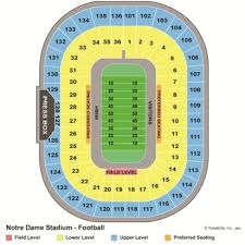 Notre Dame Football 2019 Seating Chart Genuine Notre Dame Football Stadium Seating Chart Notre Dame