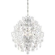 isabella s crown 6 light chrome chandelier minka lavery