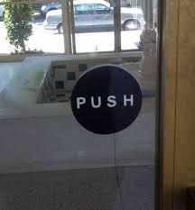 push pull vinyl door signs double