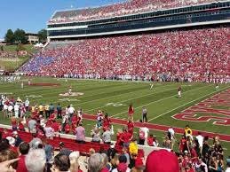 Razorback Stadium Section 101 Home Of Arkansas Razorbacks