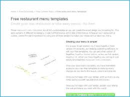 Free Catering Menu Templates For Microsoft Word Wedding Bar Menu Templates Free Awesome Word Document