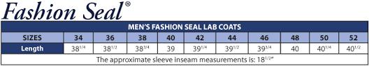 Uniform Advantage Size Chart Fashion Seal 499 Mens Lab Coats Fashion Seal Uniforms At
