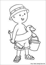 Caillou Coloring Page Free Download