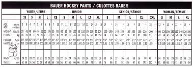 Supreme Pants Size Chart Bauer Supreme One 8 Hockey Pant Jr