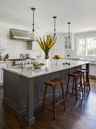 kitchens with white cabinets. Large Transitional Eat-in Kitchen Designs - Inspiration For A Dark Wood Floor Kitchens With White Cabinets