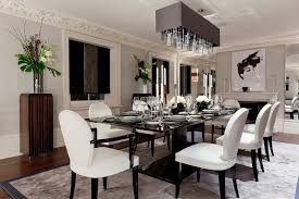 luxury decoration of formal dining room