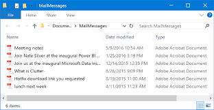 Save Outlook Email Messages In Pdf Format Individually Or In Bulk