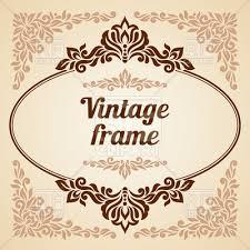 vintage frame design oval. Oval Vintage Frame With Curly Decoration Vector Image \u2013 Artwork Of Borders And Frames Design E