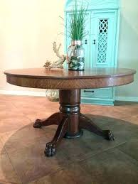 antique claw foot table round table antique oak claw foot pedestal table antique round dining table