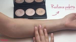 swatches highlighter palette radiance makeup revolution