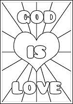 God Love Coloring Pages Free