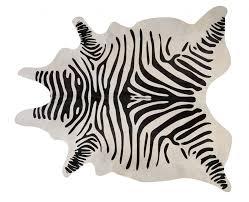 stencil zebra cow hide