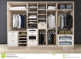 walk closet. 3d Rendering Minimal Scandinavian Walk In Closet With Wood Wardrobe