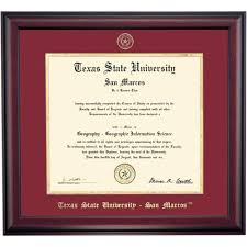 texas state university diploma frames diploma display ocm texas state school color traditional diploma frame