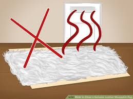 image titled clean a genuine leather sheepskin rug step 7