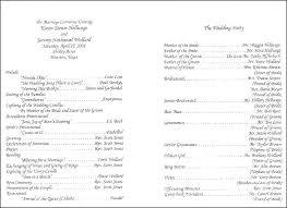 Wedding Reception Program Templates Sample Wedding Ceremony Program Template Layout Reception