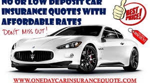 low deposit car insurance for young drivers on same day