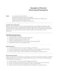 Summary For Resume Sample – Eukutak