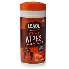 lexol leather cleaner quick wipes jar loading image