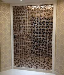metal glass mosaic tile wall stickers kls033