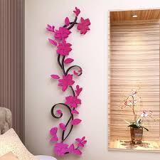 3d diy removable romantic rose flower acrylic crystal wall sticker home decor decal room vinyl art mural wall sticks wall from huanglina030 6 89