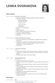 Translation Cv Translate Resume English How Write A Translator S 19