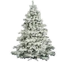 The Holiday Aisle Flocked Alaskan 6.5' White Pine Artificial Christmas Tree  & Reviews | Wayfair