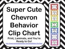 Super Cute Chevron Behavior Clip Chart
