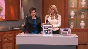 tabletop spinning cosmetic organizer by lori greiner back to video on air presentation