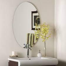 oval mirror bathroom mirror decor