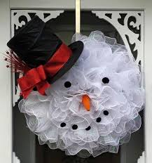 Deco Mesh Snowman Wreath...these are the BEST DIY Christmas Wreath Ideas!