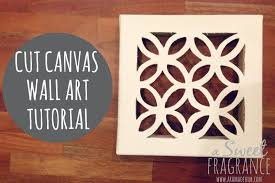 on cut canvas wall art tutorial with diy cut canvas wall art that looks expensive but is cheap to make