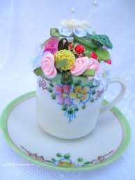 Decorating With Teacups And Saucers Upcycle An Old Teacup Into A Vintage Pincushion How To Hometalk 91
