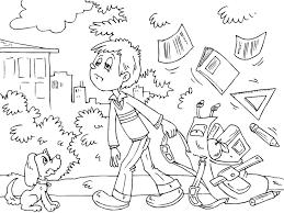 Disegno Da Colorare Stanco Della Scuola Cat 22706 Images