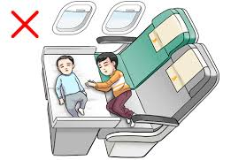 Cannot be combined so as to allow two or more convertible inflight beds to  occupy several seats as shown