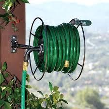 build a garden hose reel water garden hose reel swivel keeper outdoor wall mount metal storage