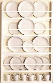 plate rack plate holder wall mounted