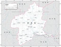地図素材群馬県 白地図 82990 ベクトル地図素材 加工編集できるai