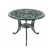 round metal patio table w parasol hole