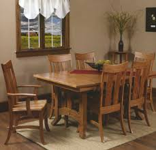 Amishcrafted Arts  Crafts Dining - Amish oak dining room furniture