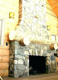 fake rock fireplace faux stone mantel rustic log cabin pictures for ideas wall with painting