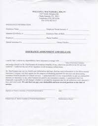 Dental Records Release Form Dr William A MacNamara Forms Dentist Summit PA 11