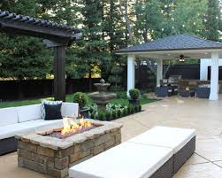 interior fire pit and outdoor fireplace ideas gallery on rectangular patio better rustic 9