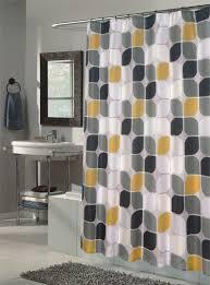 modern shower curtains. Bathroom Interior Modern Design Metro Mid Century Shower Curtain Gray Yellow And Grey Curtains I