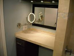 lighted wall mirror. wall mounted makeup mirror lighted with light - shelves