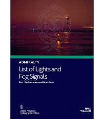 British Admiralty Charts List Np86 Admiralty List Of Lights And Fog Signals Volume N East Mediterranean And Black Seas 2019 2020 Edition