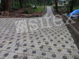 garden paver with stone