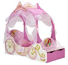 Princess Bedroom Uk Disney Princess Toddler Carriage Bed With Storage Amazoncouk